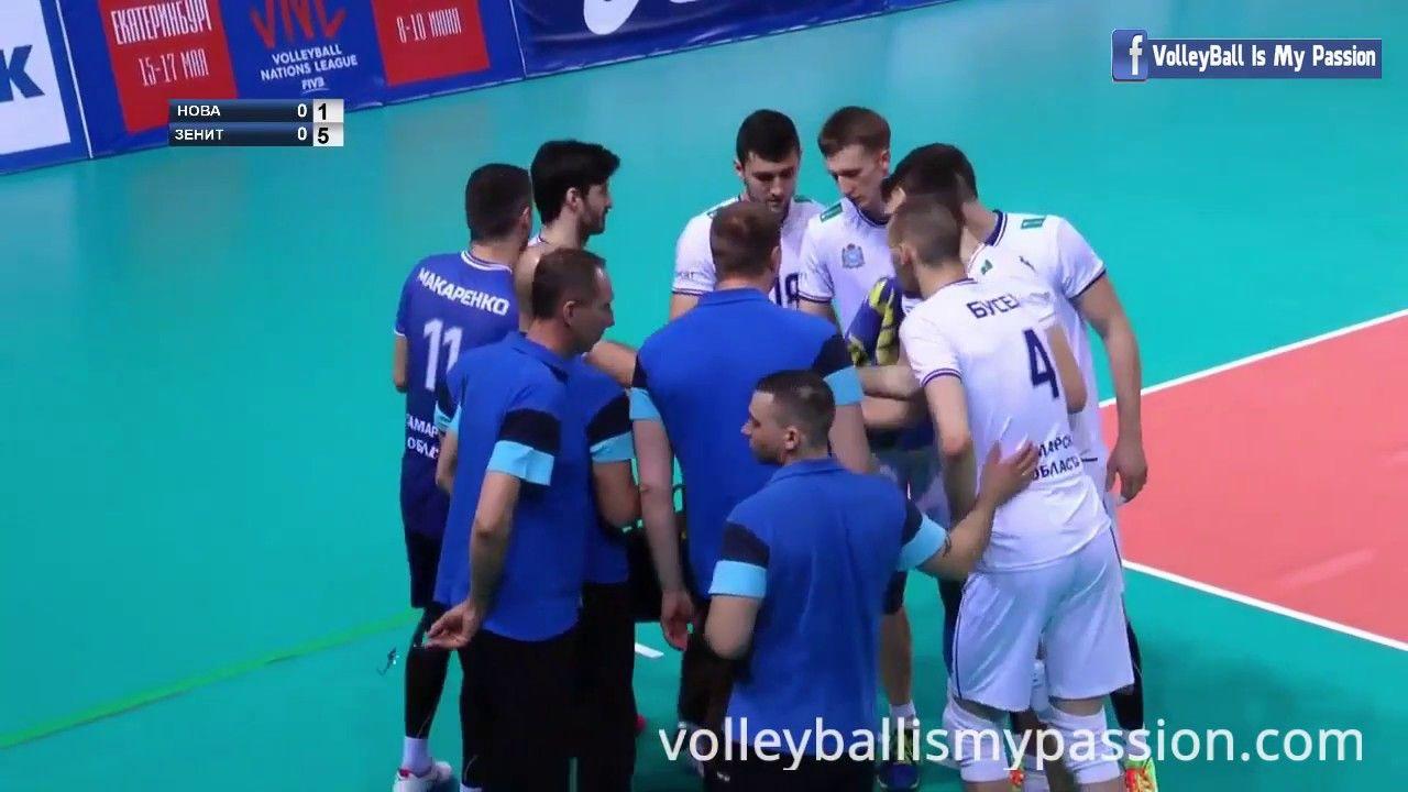 Hd Nova Vs Zenit Kazan 16 03 2018 1 4 Finals Russia Superliga Men My Passion Youtube Passion