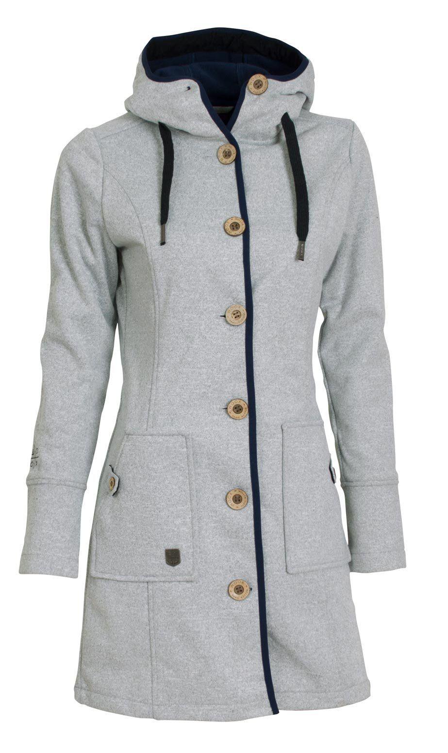 Kabát jarní dámský Woox Woolshell Ladies  Button  e0278f97643