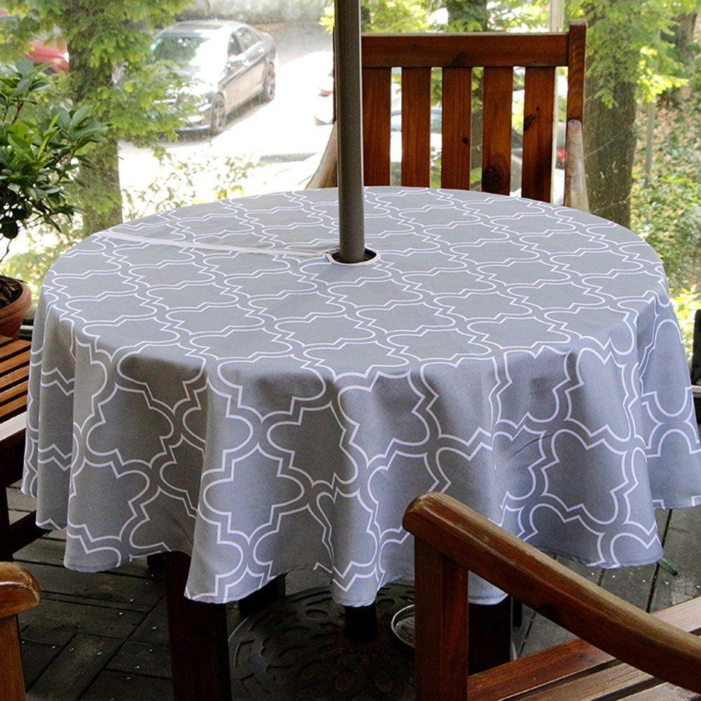 ColorBird Elegant Moroccan Outdoor Tablecloth Waterproof