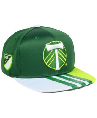 9ebb19d4060 adidas Portland Timbers Authentic Team Snapback Cap - Green White Adjustable