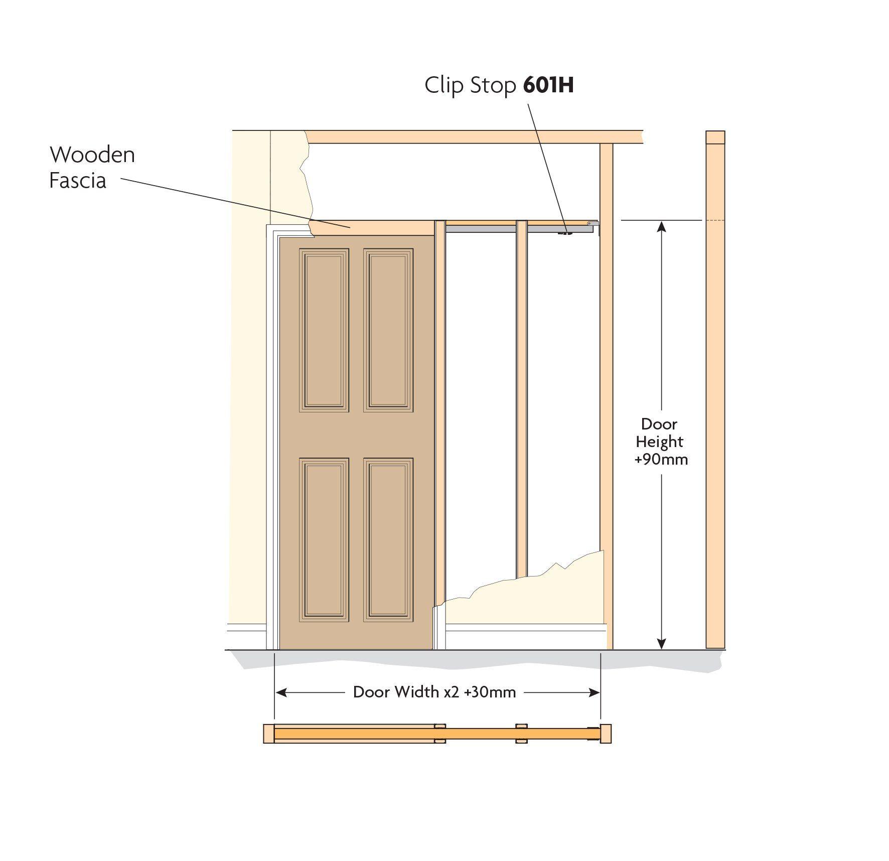 Pocket Door Kit 2315mm X 930mm For Doors Up To 60kg Amazon