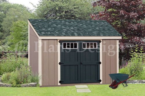 shed plans 6 x 10 deluxe lean to roof style d0610l free material list