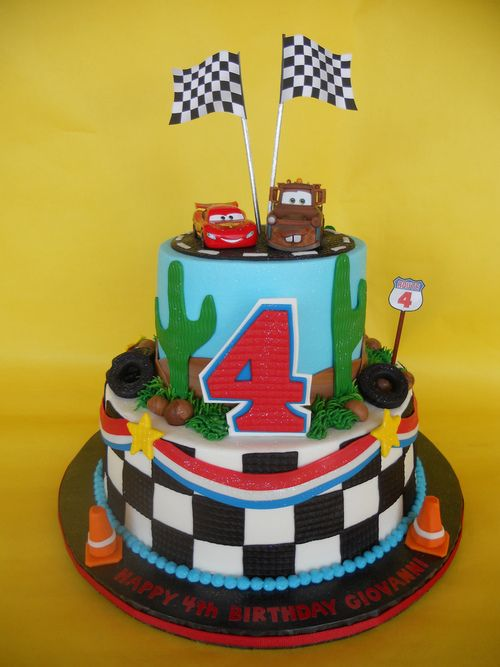 disney cars 4th birthday cake