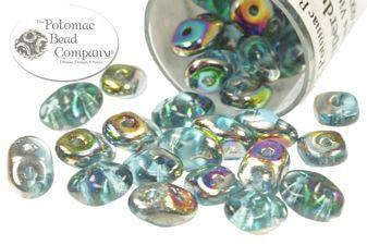 Superduo aqua vitrail closeout czech glass aqua and beads superduo two hole pressed 25x5mm czech glass oval seed beads in aqua vitrail birthday wishesczech m4hsunfo