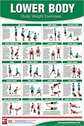 Bodyweight Training Poster/Chart - Lower Body: Becky Swan