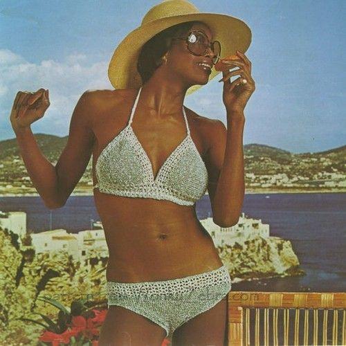 4a7bb28f1d3 vintage 70s crochet bikini   Tumblr   Crochet - Summertime   Crochet ...
