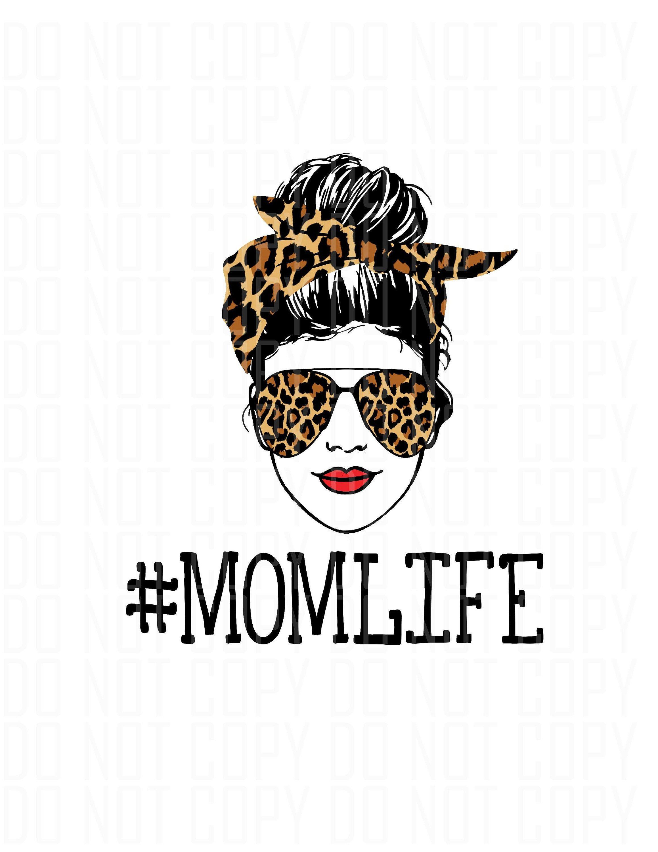 Bandana Messy Bun Mom Life Svg Free – 60+ File Include SVG PNG EPS DXF