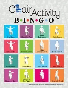 Chair Activity Bingo Dementia Activities Pinterest