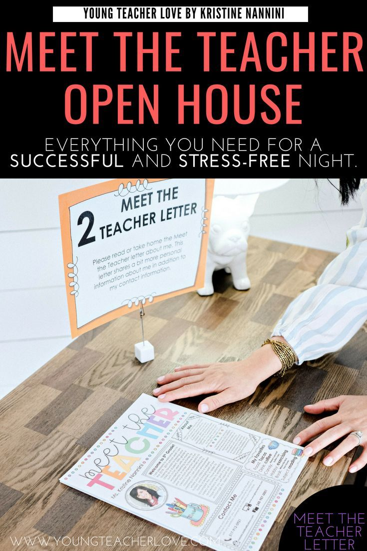 How to Plan Your Meet the Teacher Open House Night #meettheteacherideas
