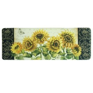 Printed Memory Foam French Sunflower Kitchen Runner By Bacova Yellow Green 1 11 X 3 11 Home Decor In 2019 Kitchen Mat Memory Foam Kitchen Mat Sunfl