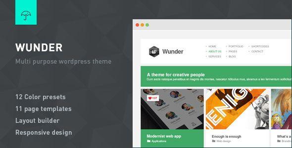 Wunder v1.6.1 – Multi Purpose WordPress Theme | 12,73 MB Wunder is a ...