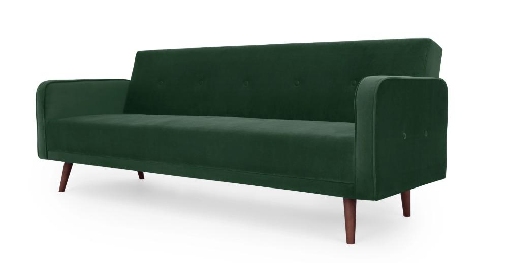 Chou Click Clack Sofa Bed, Velvet Pine Green in 2020