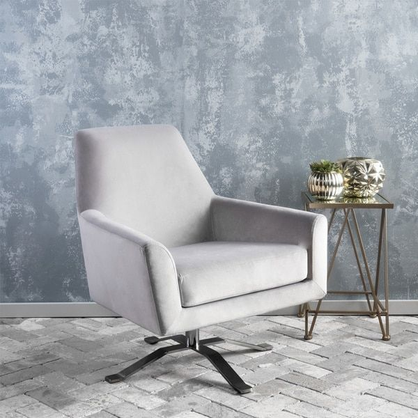 Christopher Knight Home Ailis Velvet Fabric Swivel Club Chair
