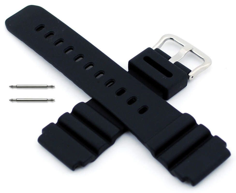 Black 22Mm Rubber Replacement Band Strap Luminox Colormark And Navy Seal  Watch 7a0c646b8