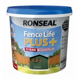 5010214876259 Ron Fencelife Plus Forest Green 5lforest Green In 2020 Ronseal Fence Life Fence Paint Fence Treatment