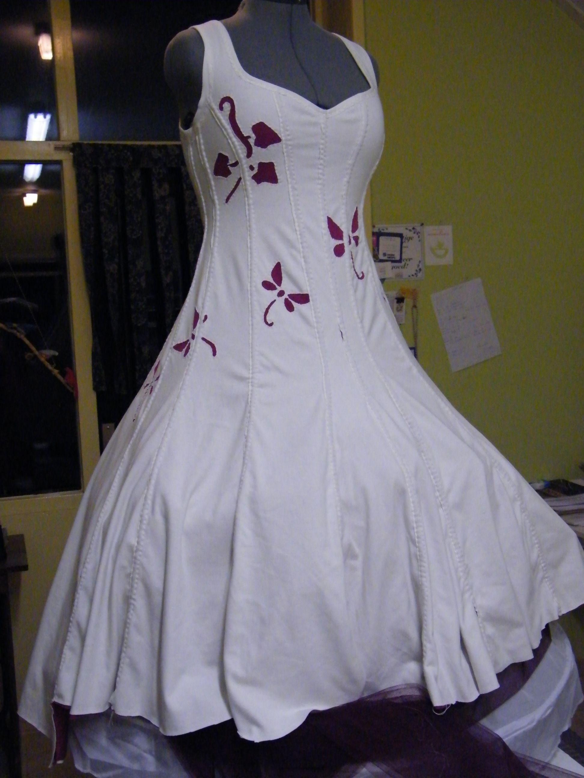 Handmade Wedding dress for my friend Ruth in Alabama Chanin Style
