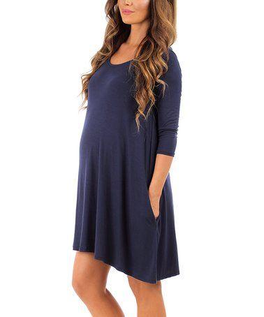 Three Quarter Sleeve Maternity Dresses