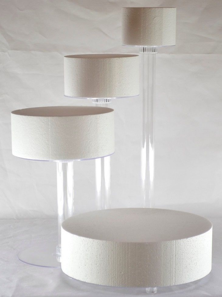 4 Tier Cascade Wedding Cake Stand Spiral Style 4 In