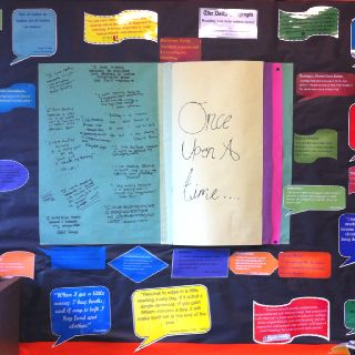 My classroom reading display created by my Year 9s.
