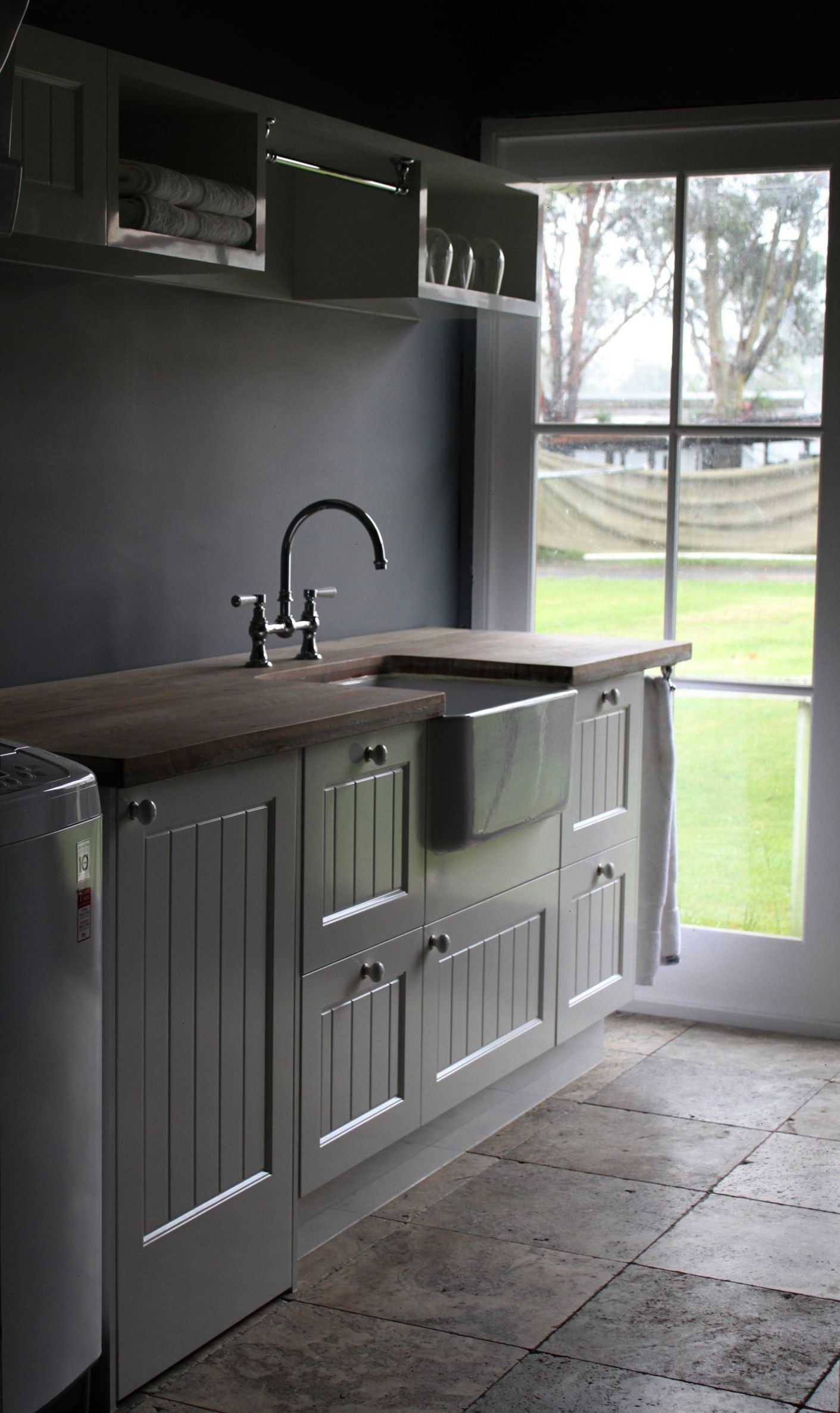 Stunning Country Laundry With Butler Sink And Traditional Tap As