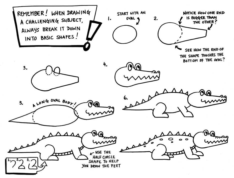 Users black kitty comics paper birds web 934 for Easy to draw crocodile