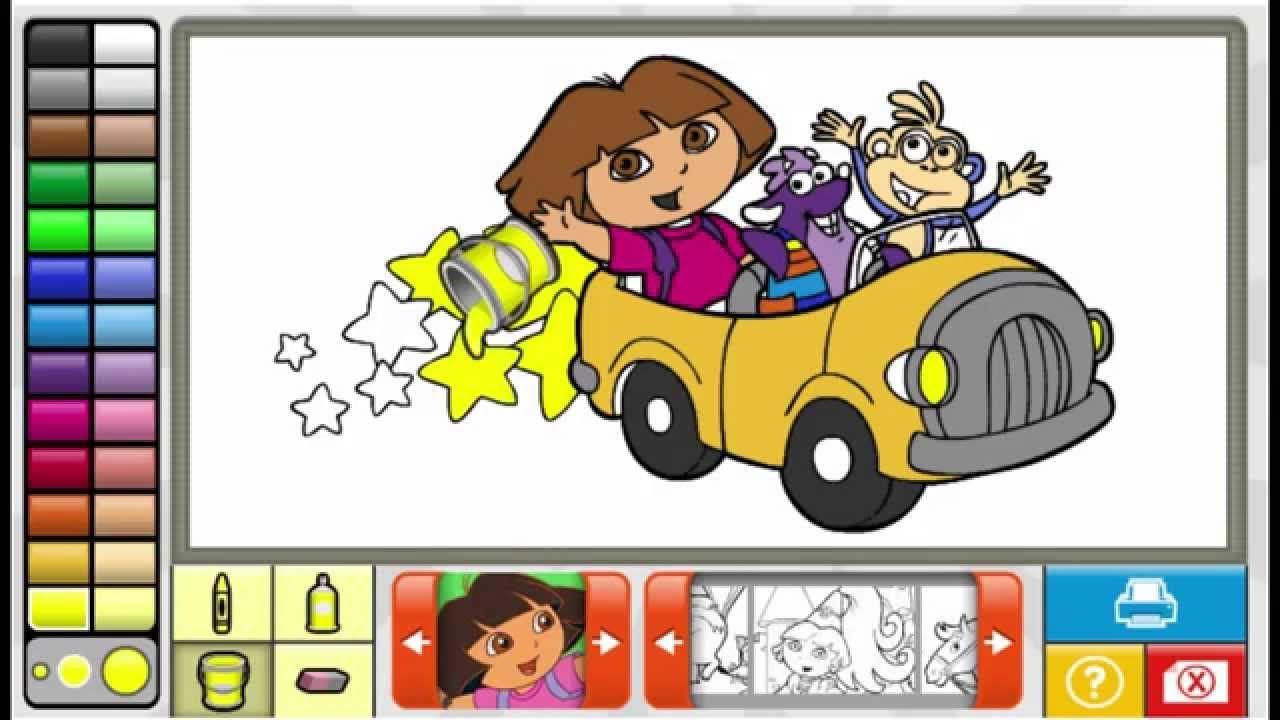 Nick Jr Dora the Explorer Coloring Book Game Dora Benny ...
