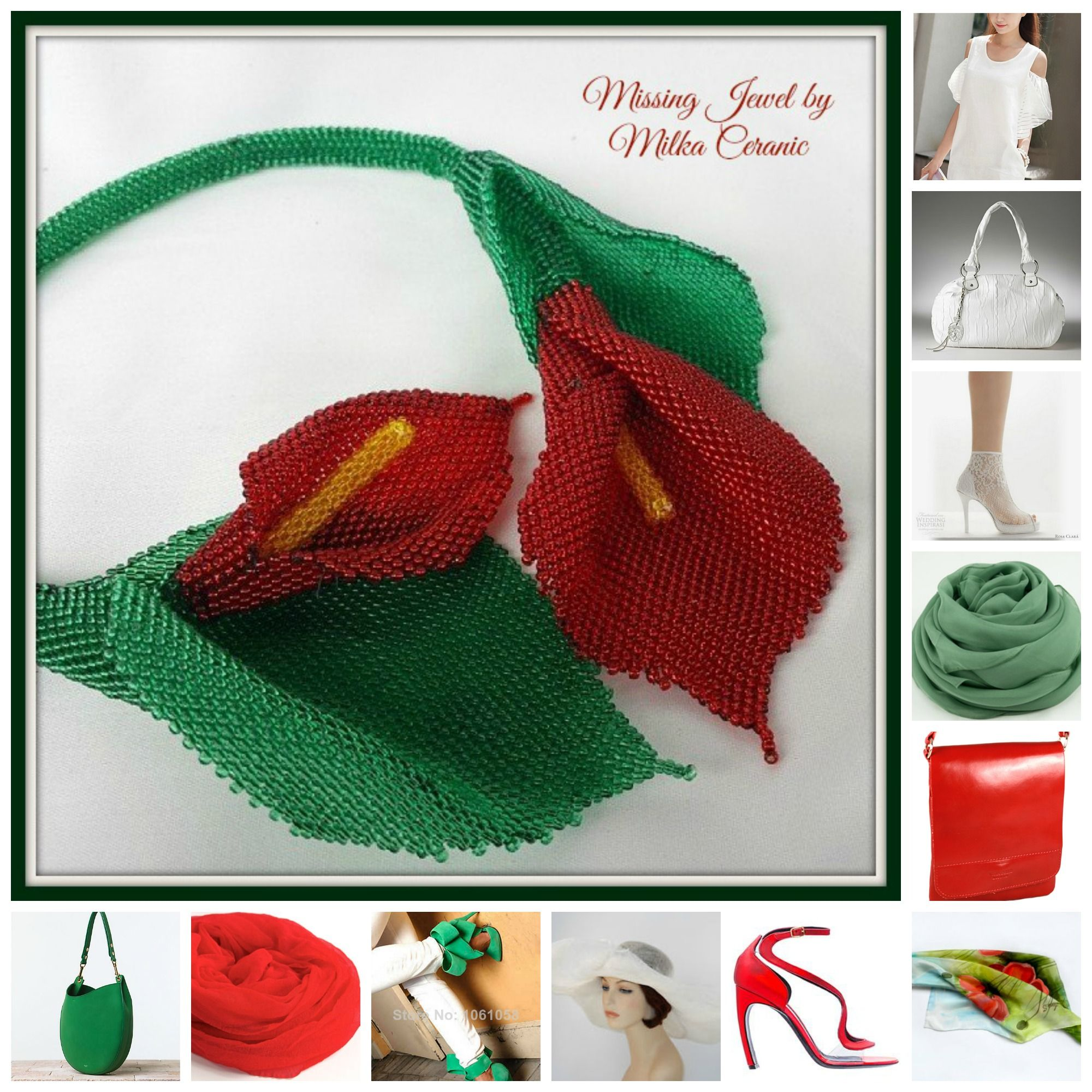 some ideas how to wear my calla lily necklace