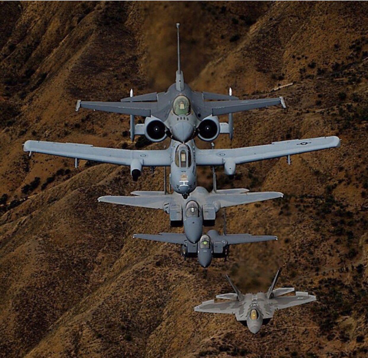 F22 F16 A10 F15 F18