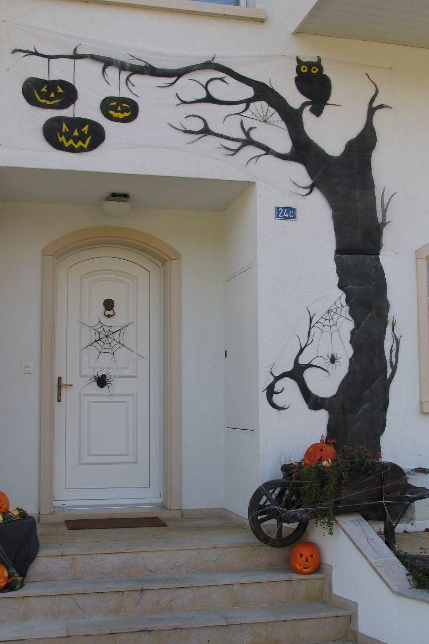 Halloween d coration peinture sur toile de jardin r cup - Pinterest deco jardin recup ...