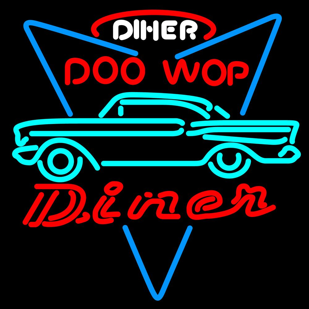 incredible 1957 chevy doo wop diner custom neon lights sign neon lights pinterest diners. Black Bedroom Furniture Sets. Home Design Ideas
