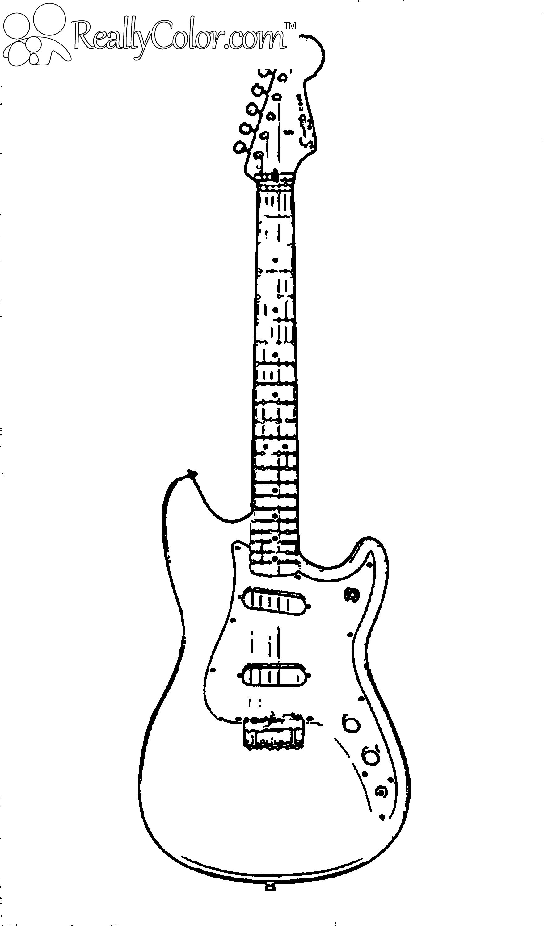 printable coloring pages guitar - photo#11