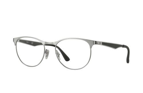 2ba9c13d4edef7 Ray-Ban Optical 0RX6365 2553 53 Gunmetal Top On Brushed Gunmet Active  Lifestyle Eyeglasses
