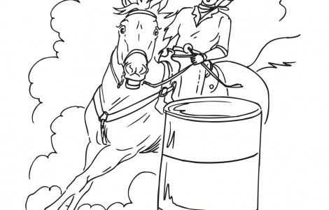 Barrel Racing Coloring Pages Horse Coloring Coloring Pages