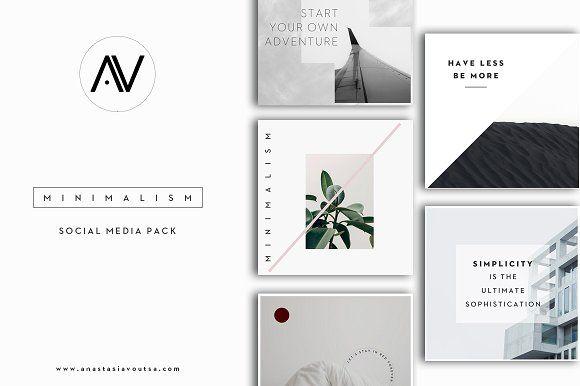 MINIMALISM   Social Media Pack by Anastasia_avgr on @creativemarket