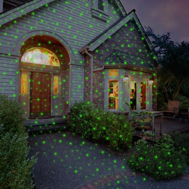 The Virtual Christmas Display Laser Light Projector - Hammacher