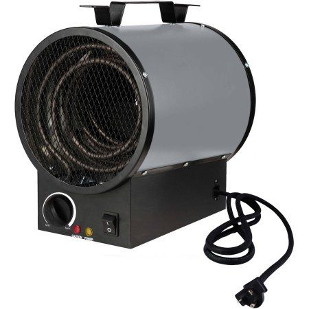 King PGH2440TB 240V 4000W Portable Shop Heater, Grey, Gray