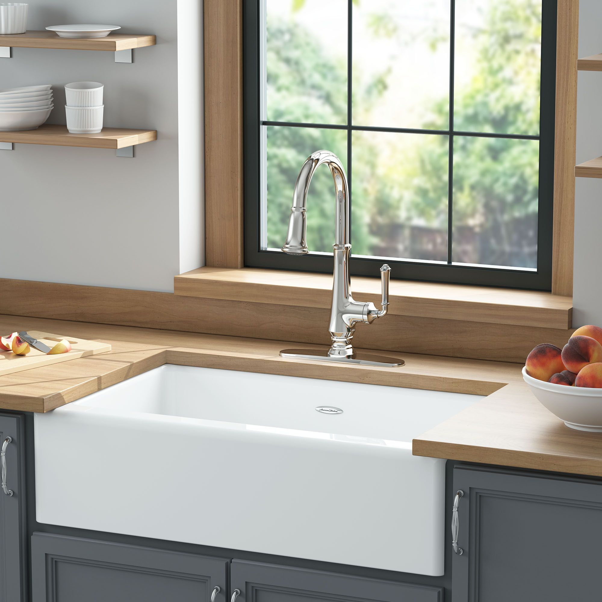 Delancey 33x22 Inch Apron Sink American Standard With Images