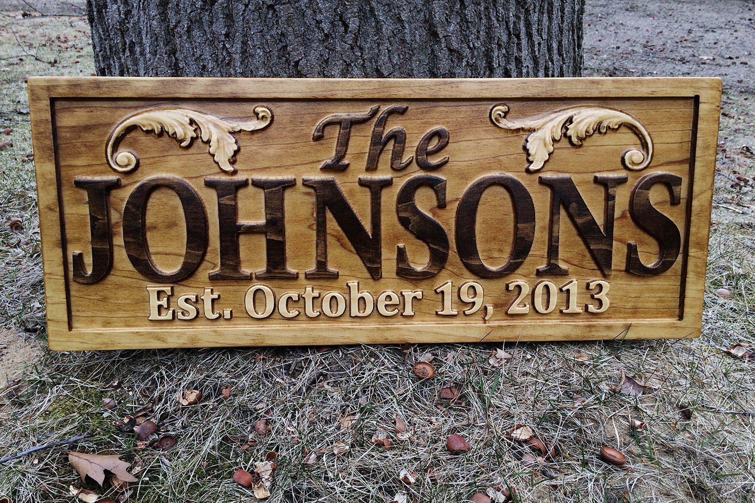 personalized lake house sign custom wood sign carved last name wooden signs home dcor 3d cabin - Custom Signs For Home Decor