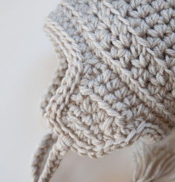 Warm Cozy Winter Vegan Baby Ear Flap Hat with Tassels | etsy ...