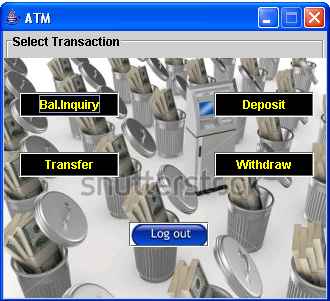 ATM System (Java GUI) | Free source code, tutorials and