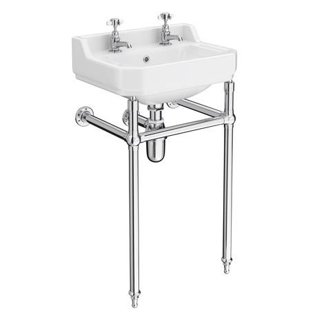 Superb Keswick Traditional 500Mm Basin Chrome Wash Stand Download Free Architecture Designs Scobabritishbridgeorg