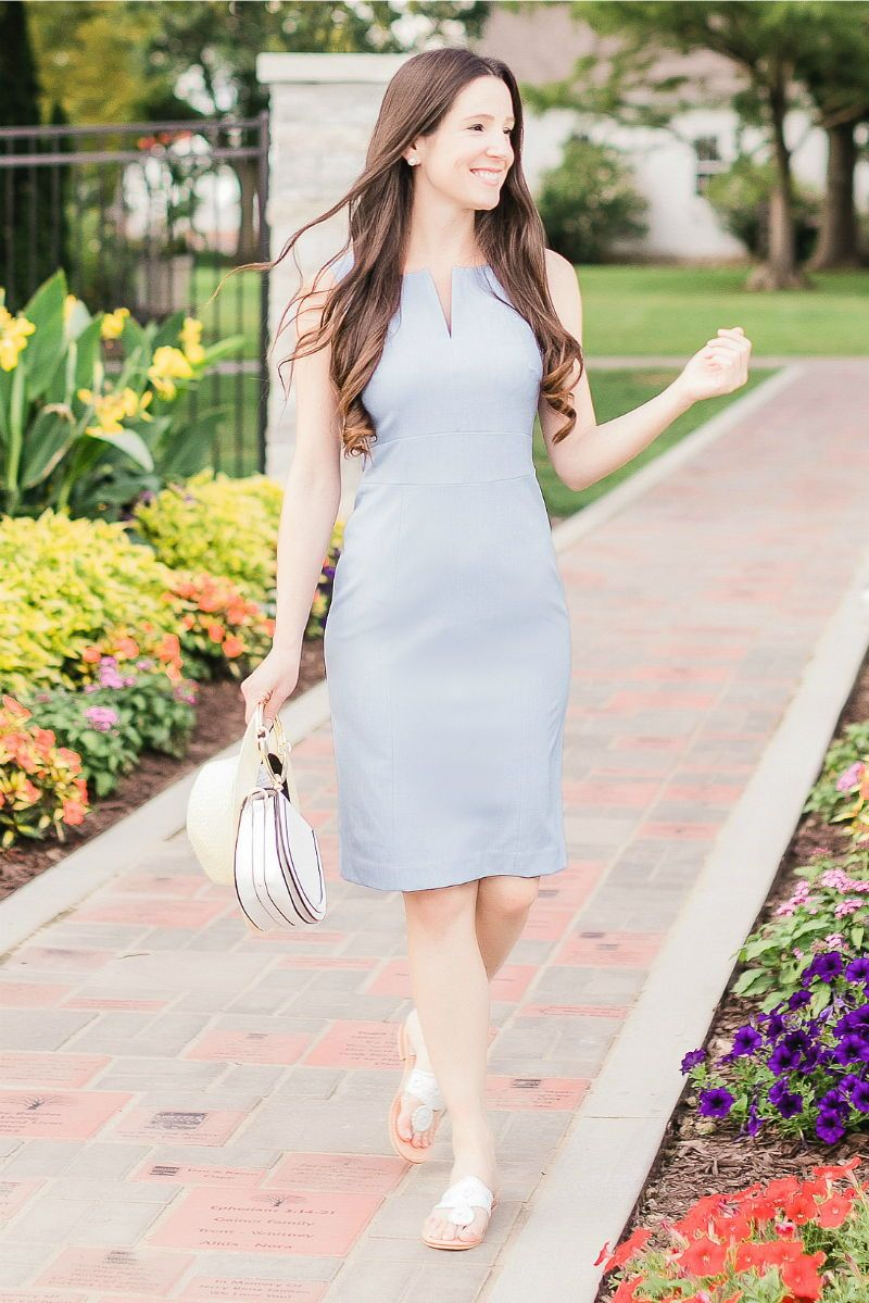 c3d6bdf6cfc This Banana Republic paneled sheath dress is versatile enough to wear at  the office