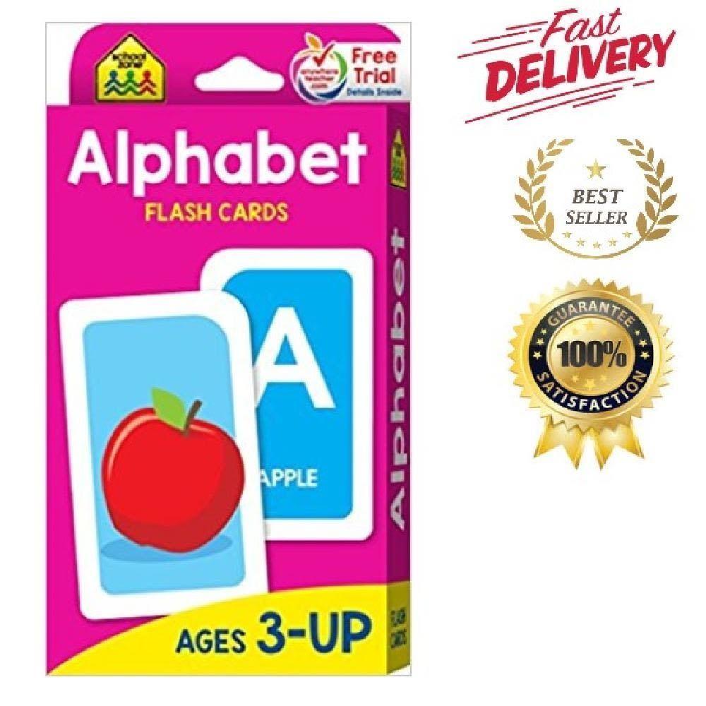 Alphabet flash cards child kid learning words preschool