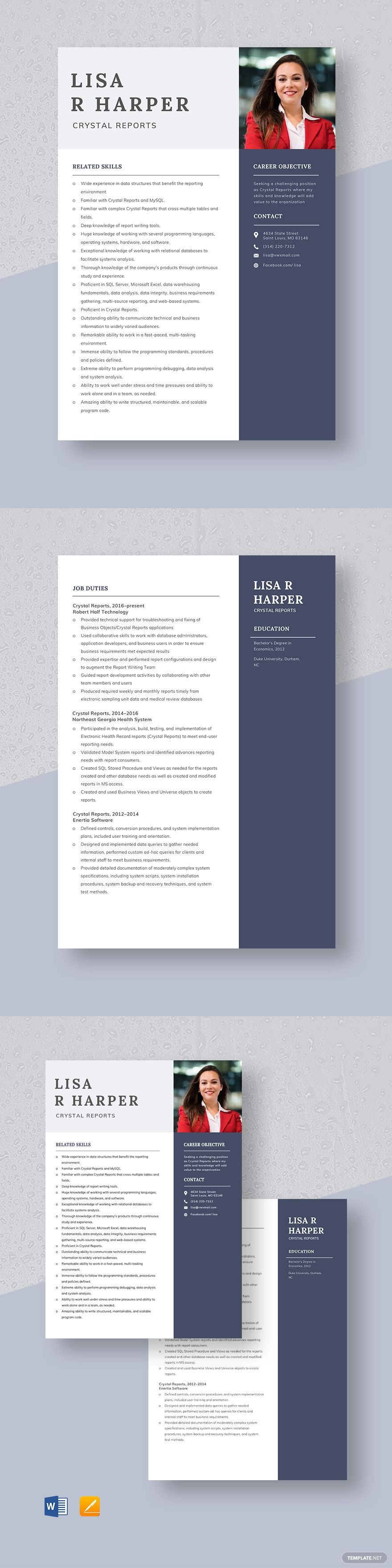 Crystal Reports Resume Template #AD, , #sponsored, #Reports, #Crystal, #Template, #Resume
