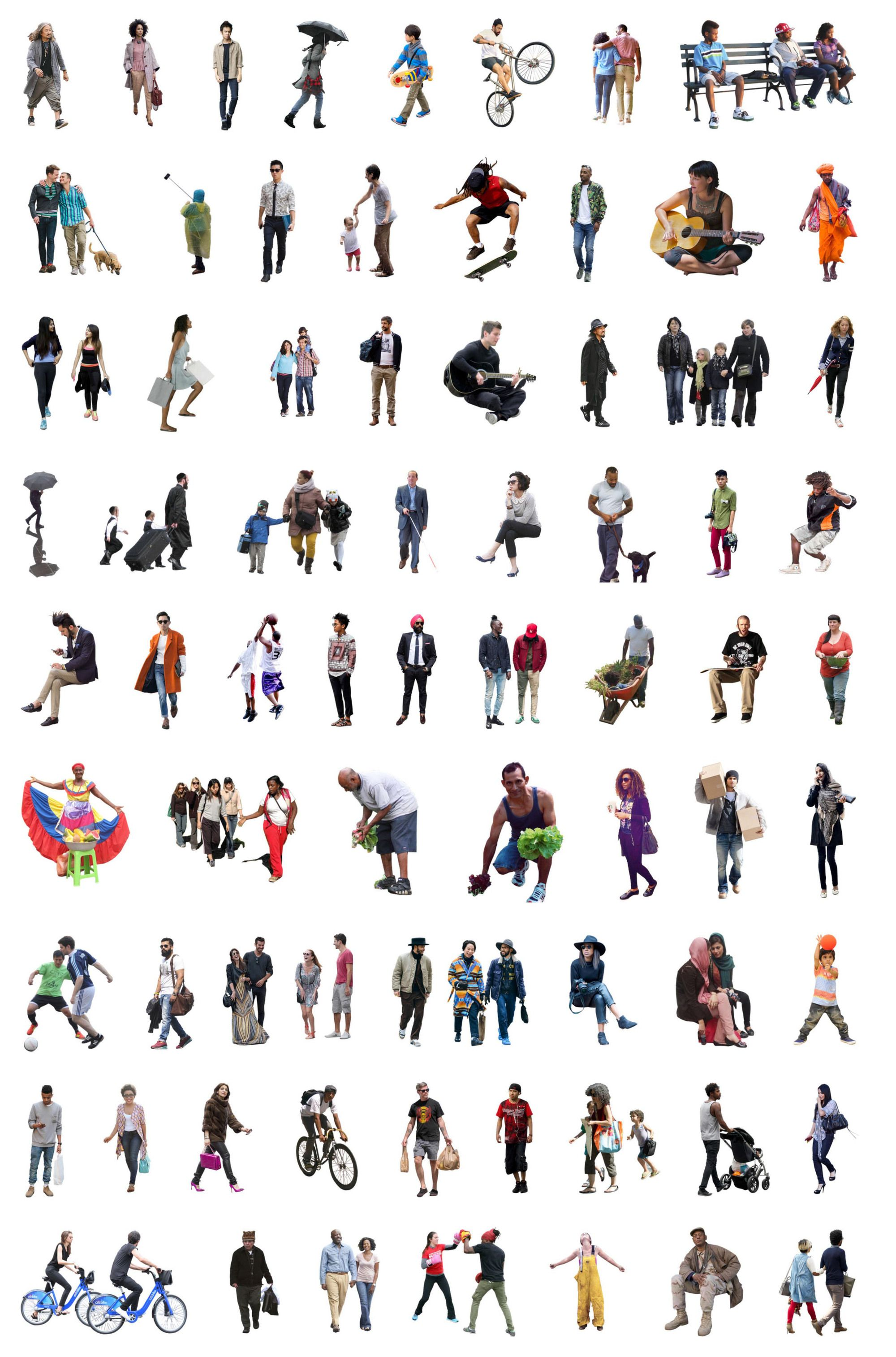 Gallery Of 5 Places To Download Free Ethnically Diverse Render People 1 Render People Architecture People People Cutout