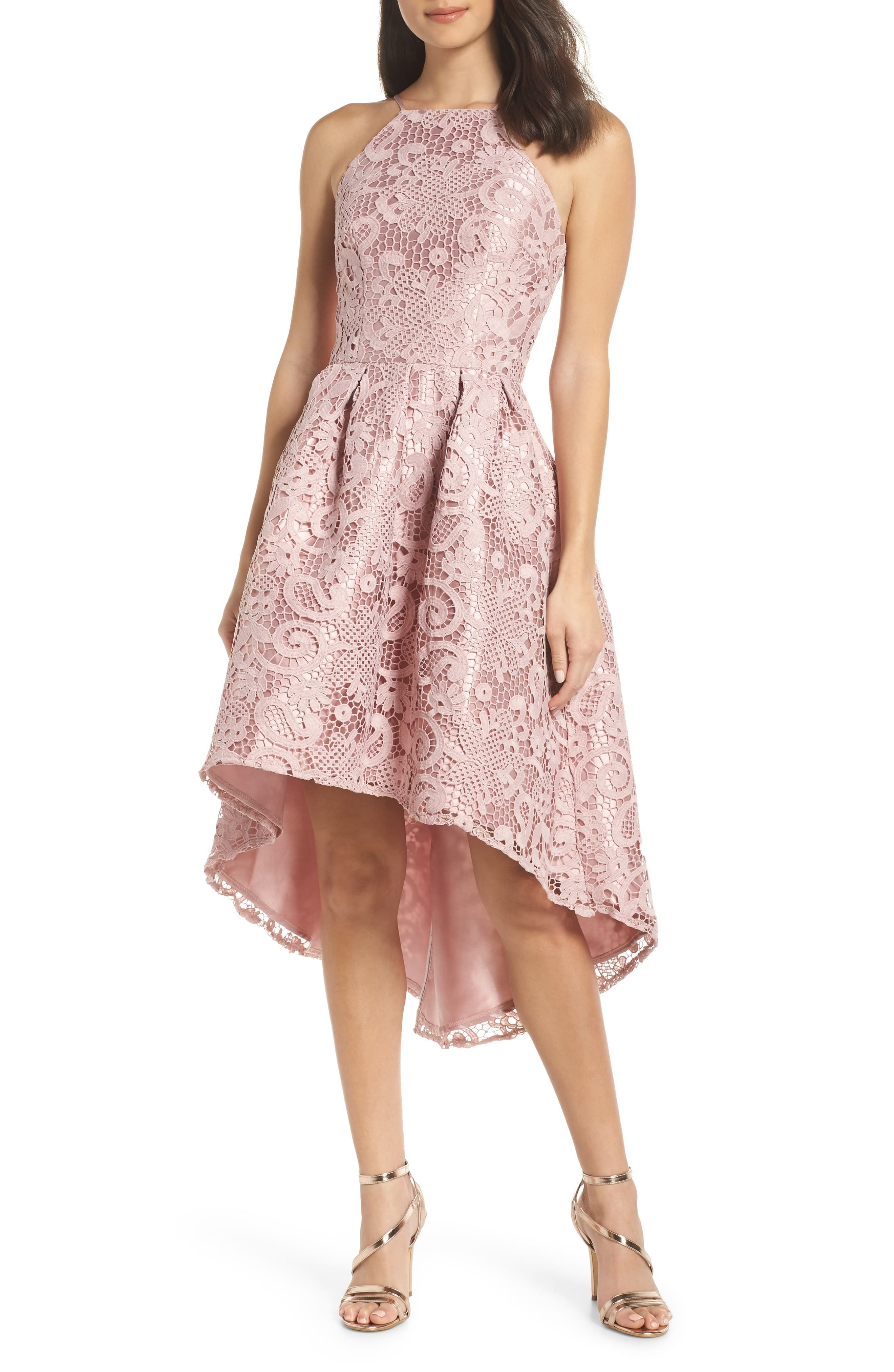 Floral Lace Overlay Midi Dress in Black   Dresses