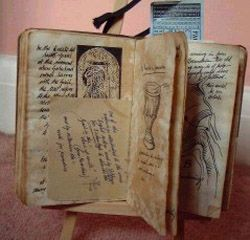 Henry's Grail diary - prop from the movie