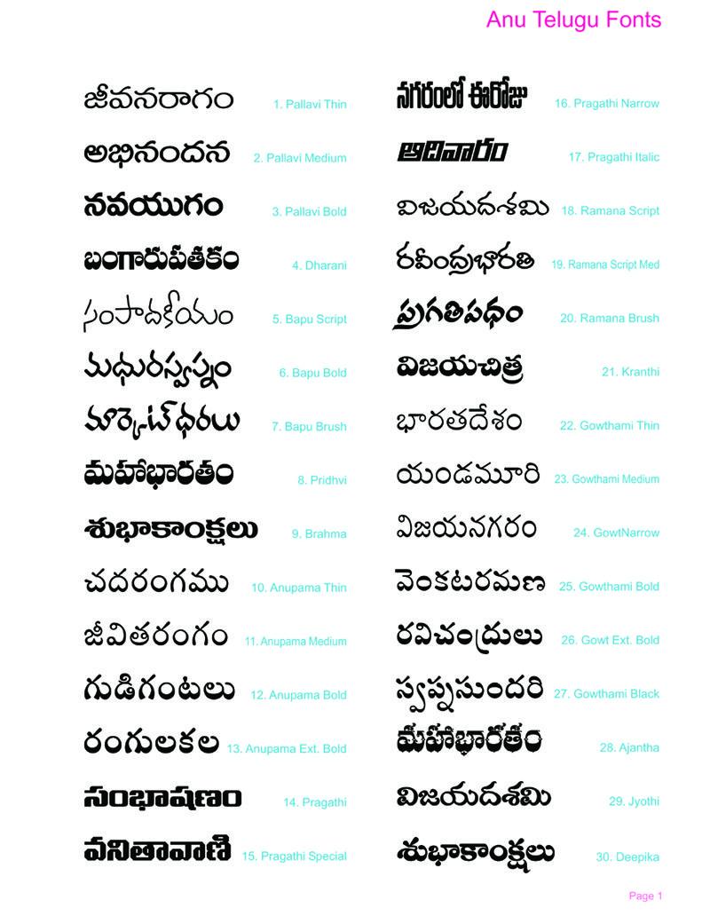 Anu telugu fonts for windows 8 free download