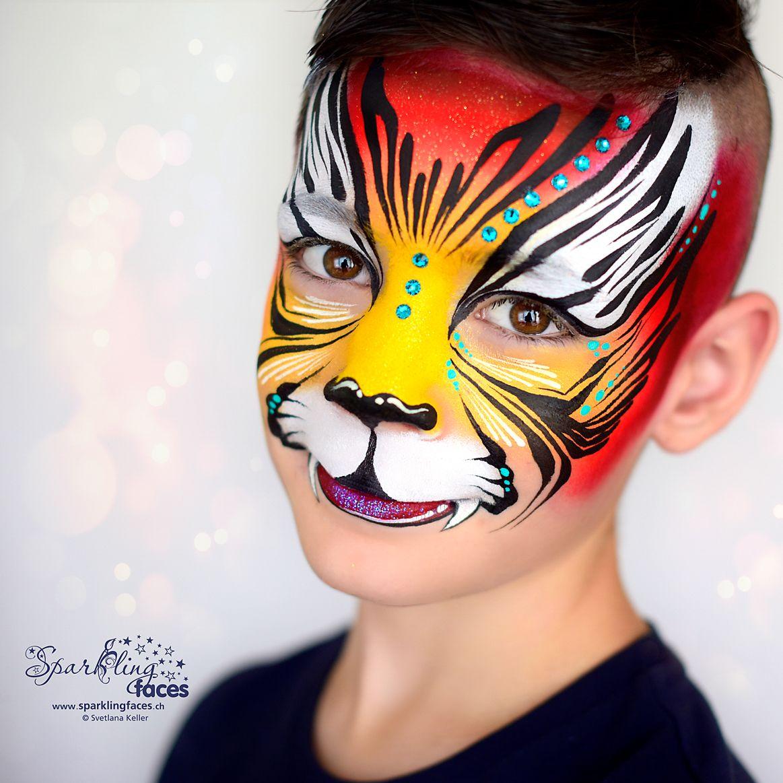 Kinderschminken Tiger In 2020 Kinderschminken Schminkgesichter Bemalte Gesichter