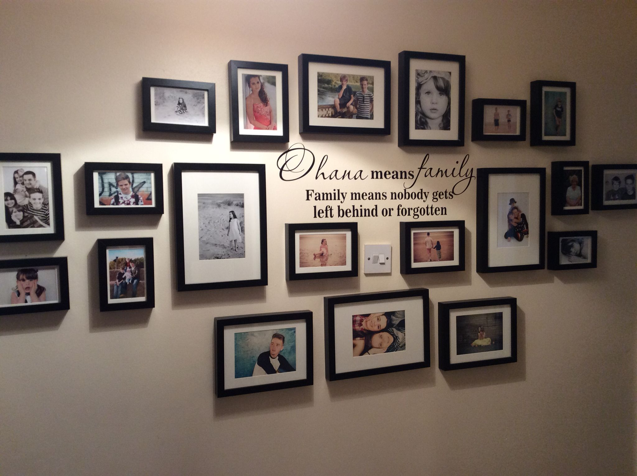Family Photo Wall Idea Picture Wall Ideas In 2019 Wall